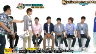 [Eng Sub] 120613 Weekly Idol - Sunggyu Eye Talk Cut