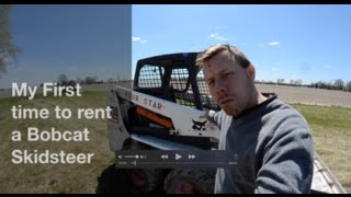 Driving Bobcat Skidsteer (first time) + gun range, pond