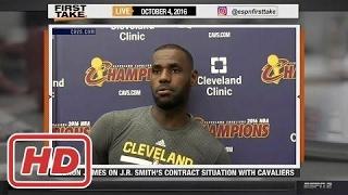 ESPN First Take - LeBron James Warns Cavs, Odell Beckham Jr. & Cam Newton (FULL)2017