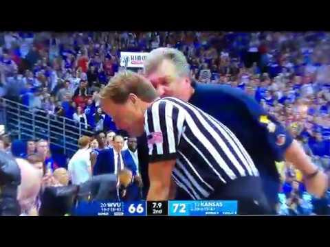 Bob Huggins Ejected vs Kansas 021718