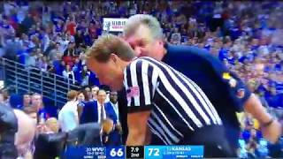 Bob Huggins Ejected vs Kansas 02/17/18