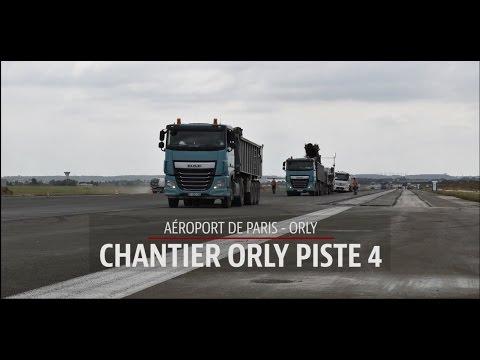 Réalisation de la piste 4 de l'aéroport de Paris-Orly (time lapse)
