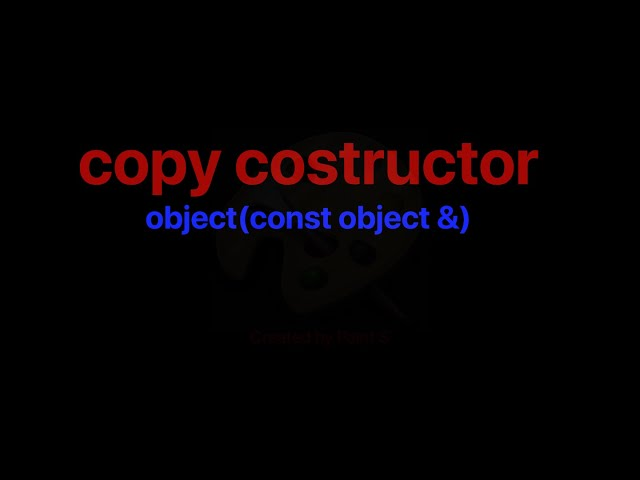 Copy Costructor