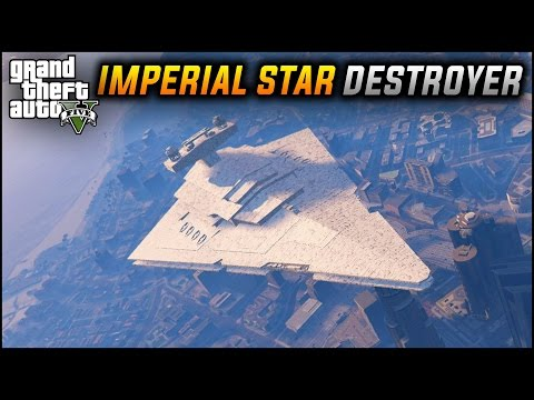 Grand Theft Auto 5 modders add Star Wars speeders and Star Destroyers