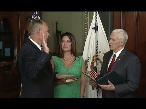 Ryan Zinke Sworn In as Interior Secretary - Full Ceremony And Speech