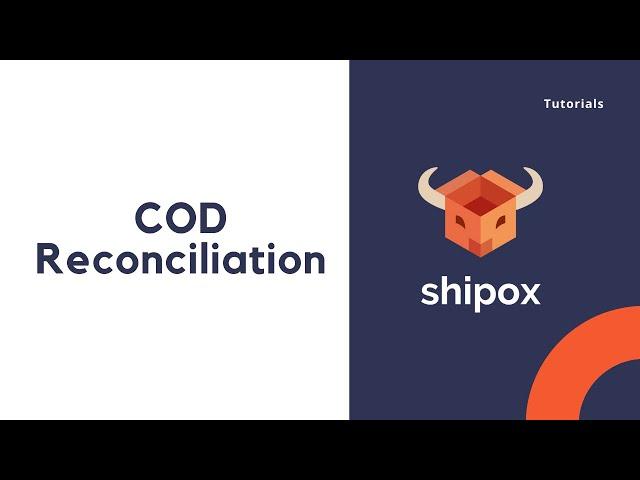COD Reconciliation   Shipox