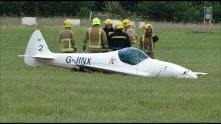 Twister plane Crash landing at Abingdon air show  2017