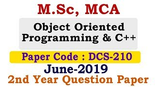 Object Oriented Programming & C++ PAPER for M.Sc, MCA | Student Go |