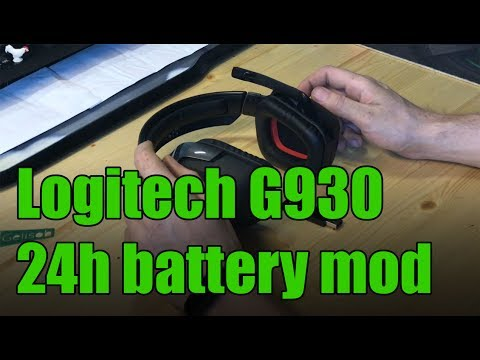 Logitech G930 24h battery mod