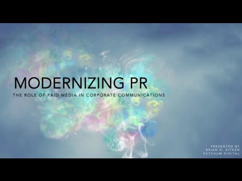 """WEBINAR with Brian Aitken: """"Modernizing PR- The Role of Paid Media in Corporate Communications"""""""