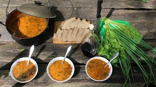 Суп харчо в казане  | Kharcho Soup VKAZANE