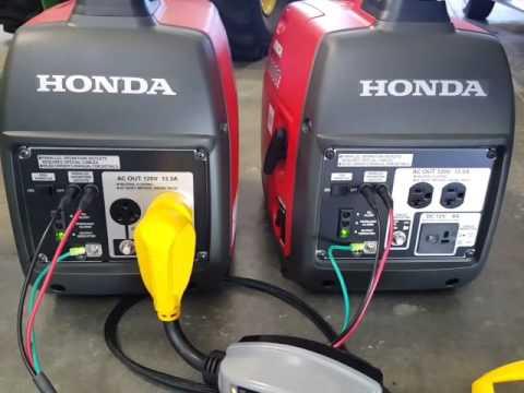 honda  watt generators running rv ac unit youtube