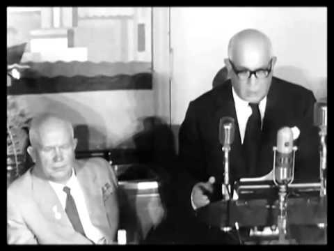 Fox Films President Spyros Skouras Gives Soviet Premier Nikita Khrushchev a Piece of His Mind