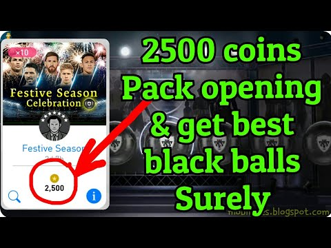 Festive Season Celebration Pack opening x10 with 2500 coins & Get 100% black balls - Pes 18 android