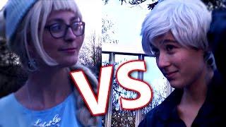 Epic Pixel Battle - Jack Frost VS Elsa [COSPLAY PARODY]