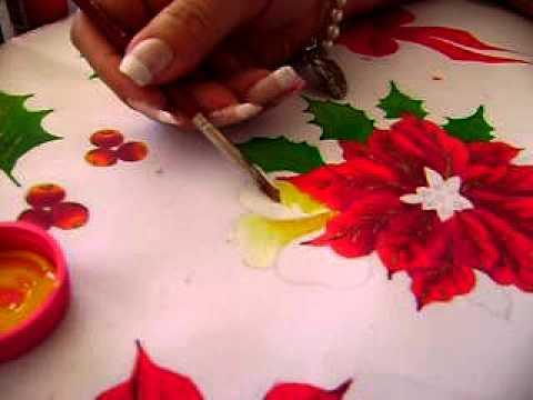 Pintura en tela navide a 3 youtube - Pintura en tela motivos navidenos ...