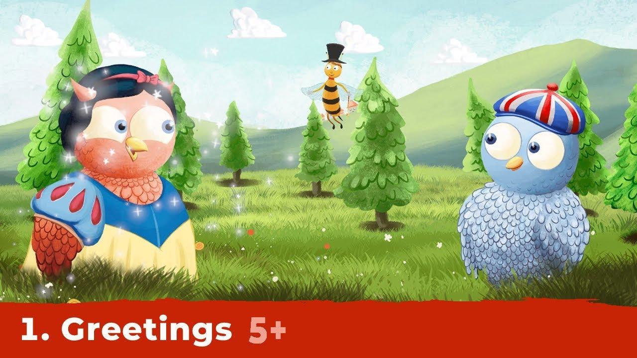 GREETINGS | Ep.1, seria English is Fun | Desene animate educative | Copilul Verde