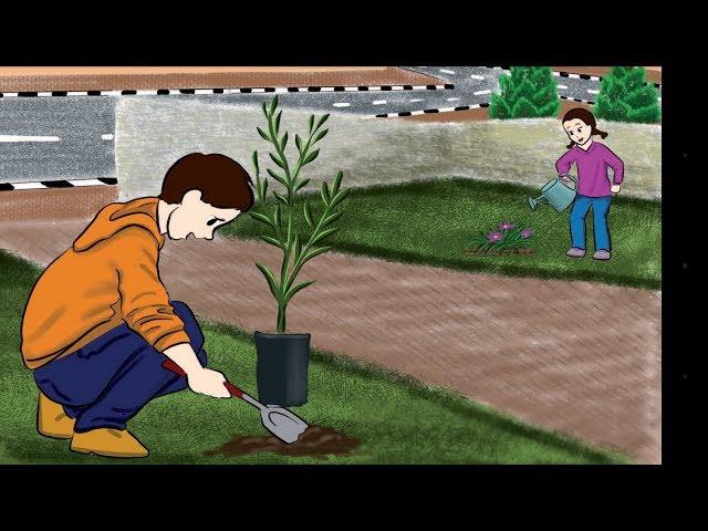 الدرس الثاني للصف الثالث(يوم الشجرة) ونص الاستماع(الكلمة الطيبة)