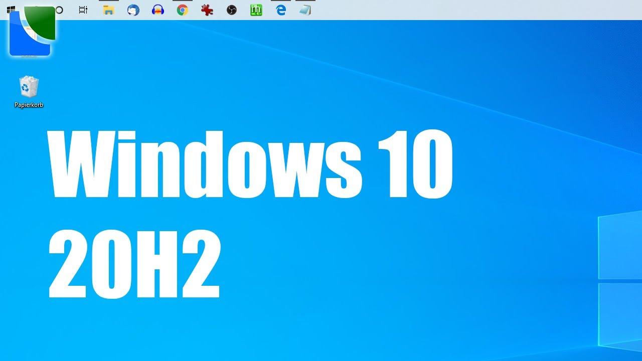 Download Funktionen von Windows 2009 / 20H2 schon jetzt