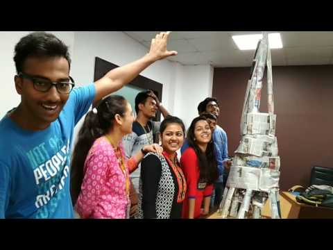 Best team building activity- newspaper tower building by Eng