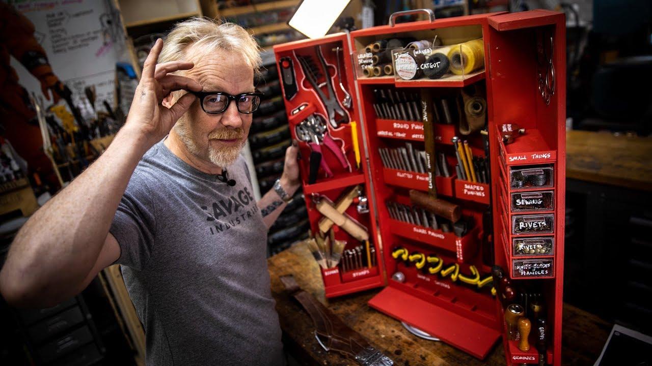 Adam Savage's New Leatherworking Toolbox!