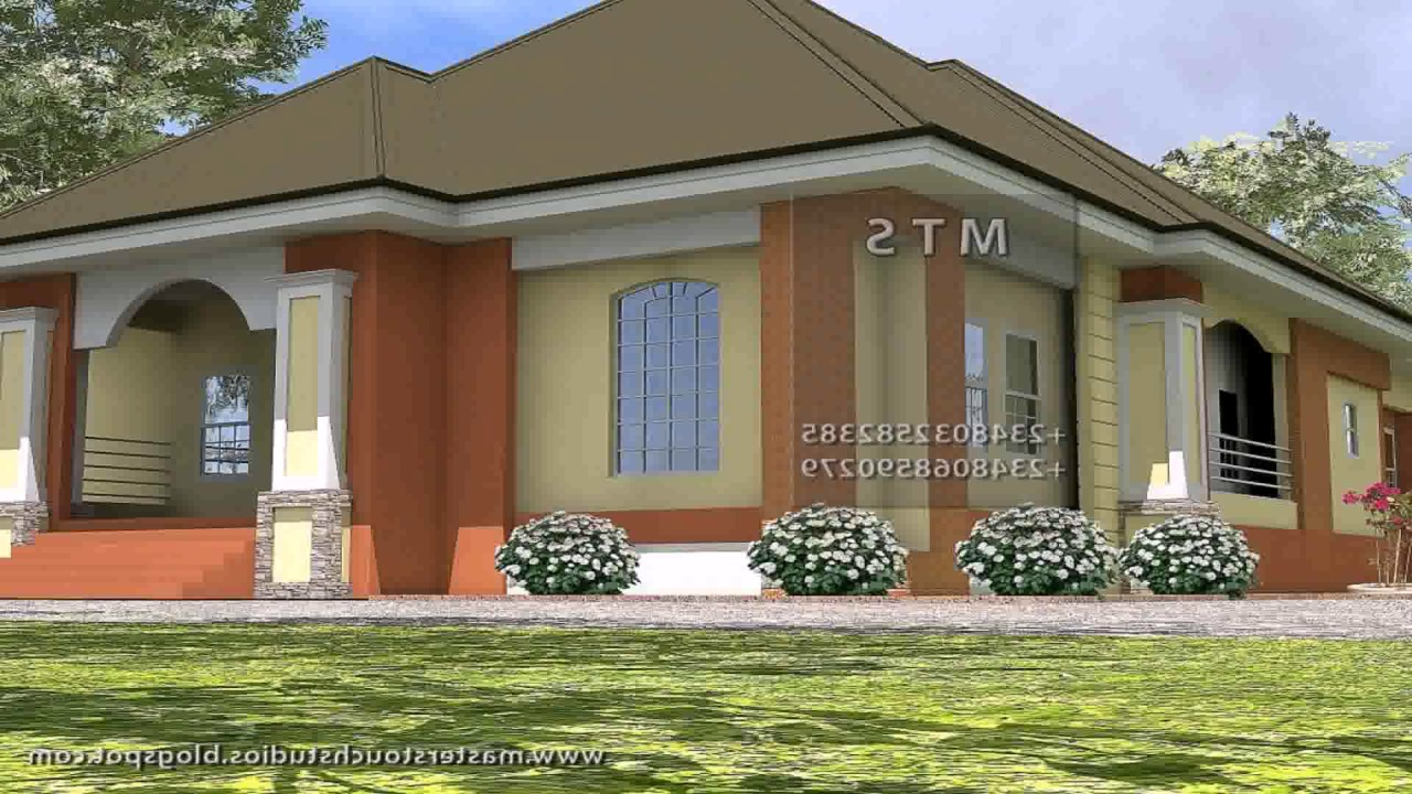 Three bedroom bungalow house plans in kenya youtube for Free 3 bedroom bungalow house plans