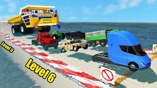 Cars Сrossing Water Test - Beamng drive