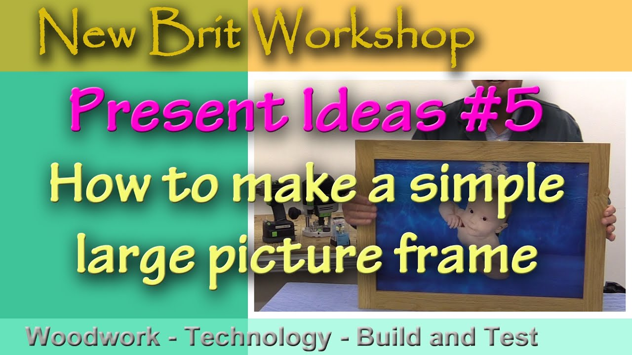 Present ideas 5 how to make a large picture frame youtube jeuxipadfo Image collections
