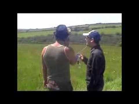 Patrick Baladi and Simon Lowe rock the kasbar in a field