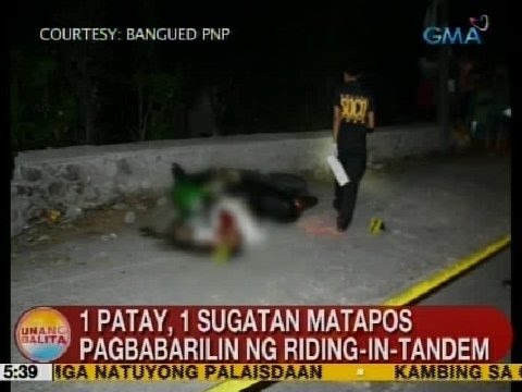 UB: 1 patay, 1 sugatan matapos pagbabarilin ng riding-in-tandem sa Abra
