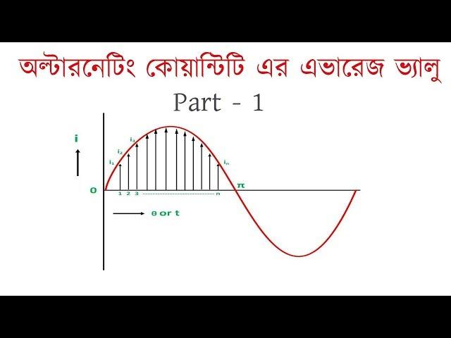 Average value of alternating quantity Part - 1 ।  Circuit Math | এভারেজ ভ্যালু । Voltage Lab