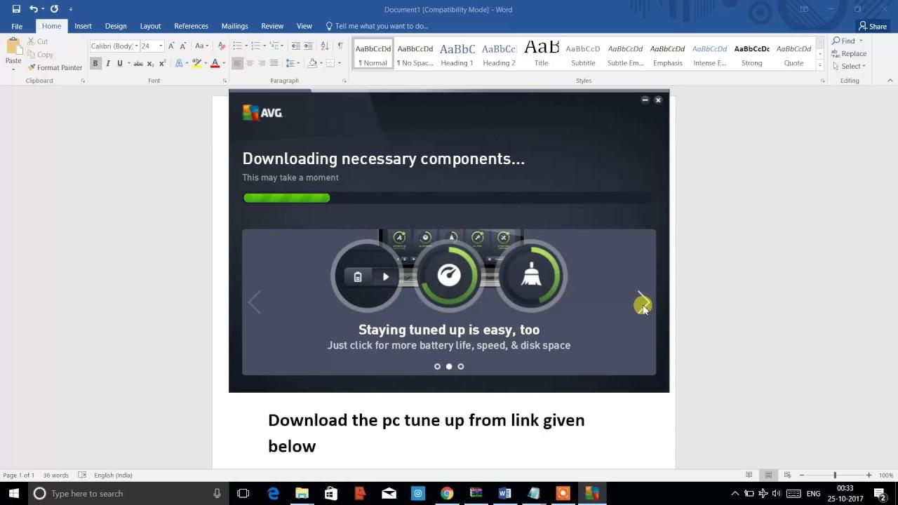 avg pc tuneup 2017 key free download
