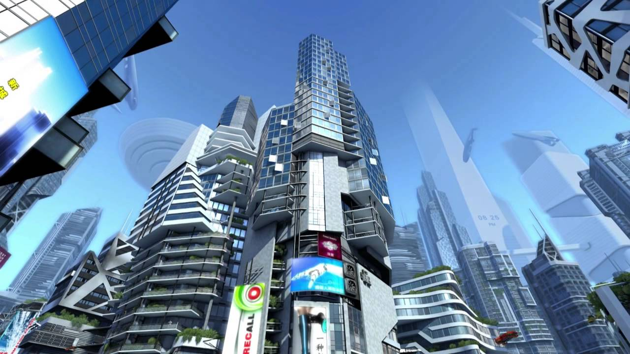 Futuristic City 3d Screensaver Youtube