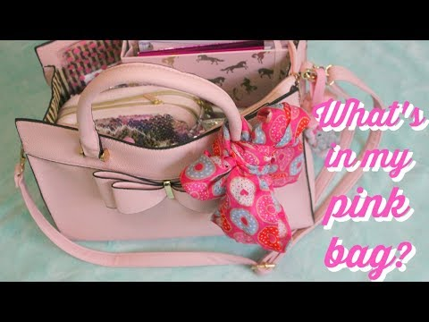 WHAT I CARRY IN MY PINK BAG   VALENTINE'S DAY EDITION!!! *CUTE* *GIRLY*