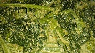 পোস্ত দিয়ে লাউ শাক ভাতে   Delicious Bottle gourd leaves with poppy seeds   Posto die lau Shak Bhate
