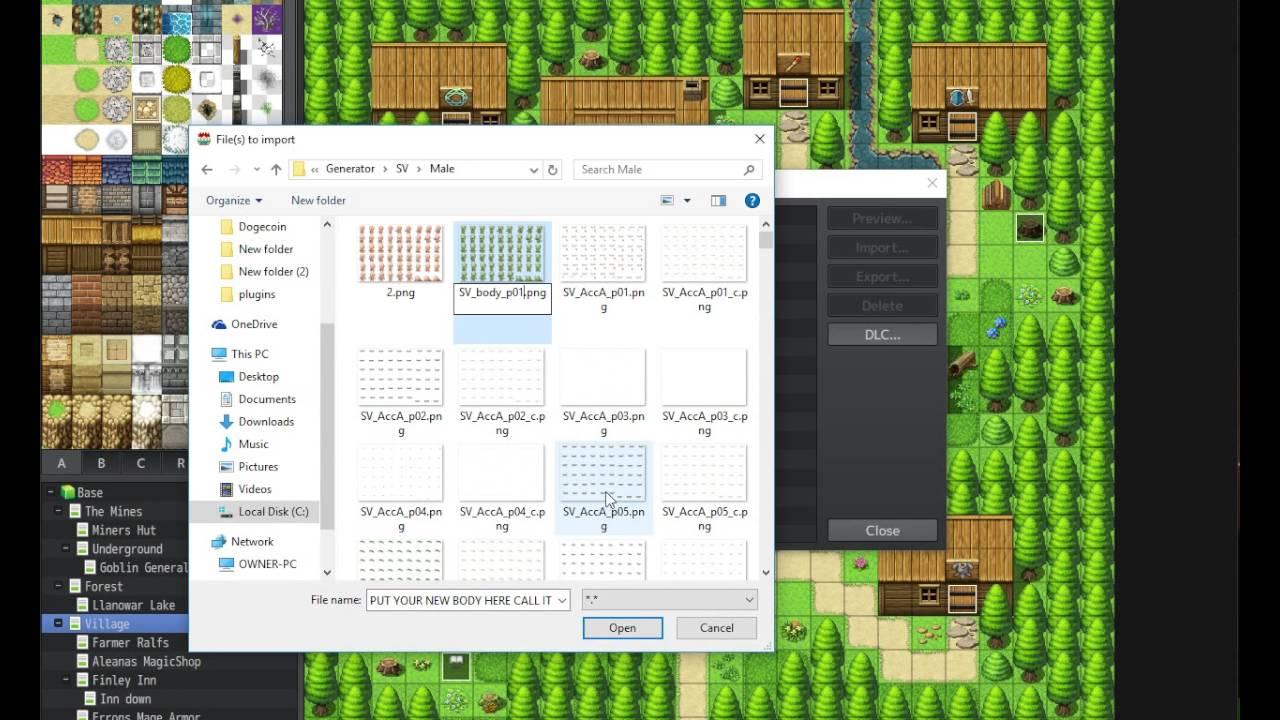 RPG MAKER MV - character generator different battlers