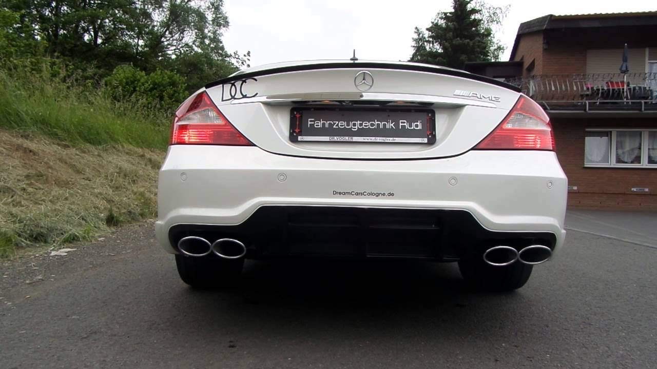 mercedes benz cls 500 amg optik sound exhaust youtube. Black Bedroom Furniture Sets. Home Design Ideas