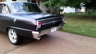 Flowmaster 10 series exhaust on a 1964 Nova
