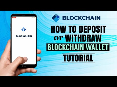 How to DEPOSIT or WITHDRAW crypto on Blockchain Wallet   Bitcoin App Tutorial