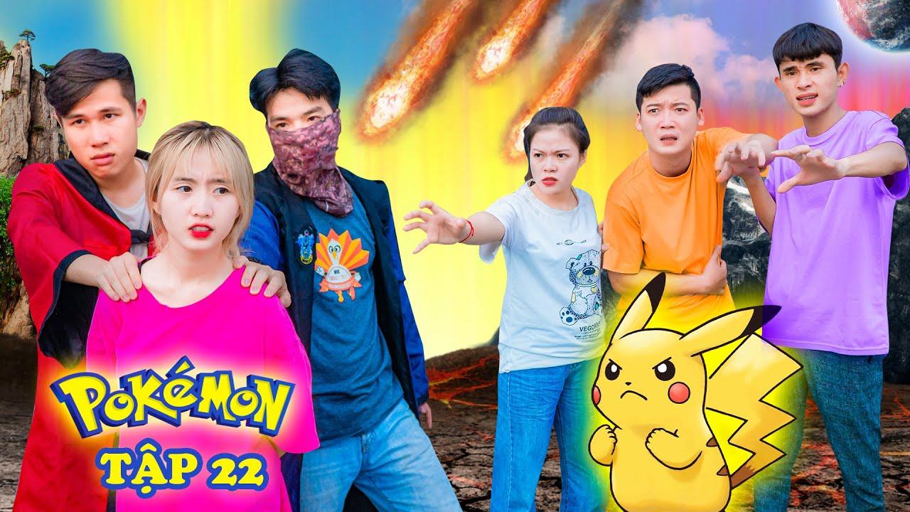 Pokemon Phá Huỷ Thiên Thạch Giải Cứu Hạt Tiêu Vs Trung Chuối - Pokemon Tập 22 - Phim Hài Táo TV