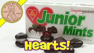 Heart Shaped Junior Mints, Creamy Mints in Pure Chocolate - Tasty!