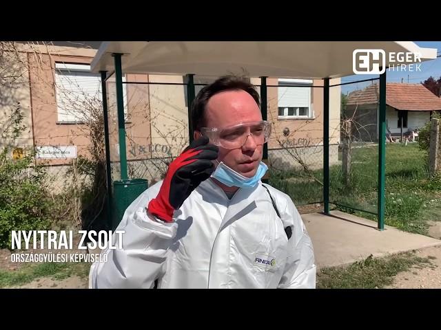 Fertőtlenítés Poroszlón