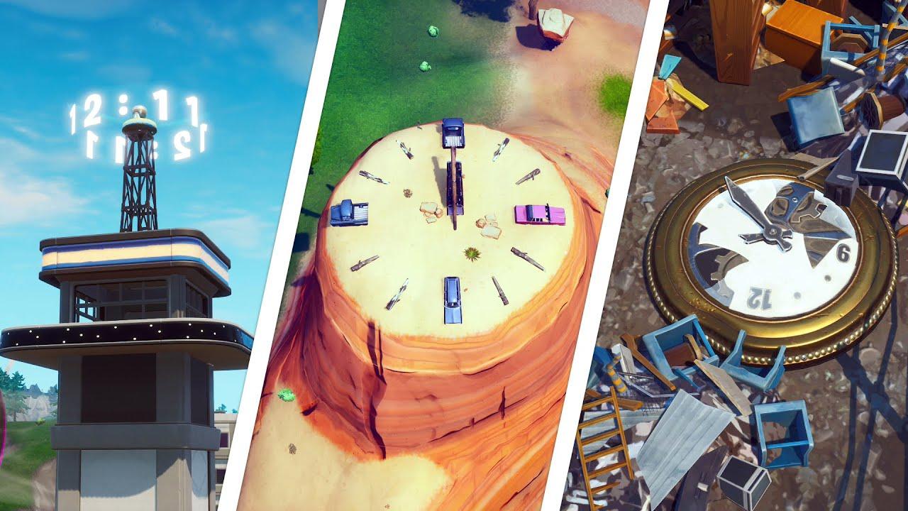Visit different clocks  Fortnite challenge guide