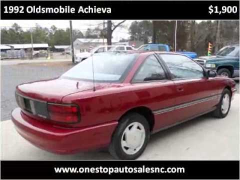 1992 Oldsmobile Achieva Available From One Stop Auto Sales