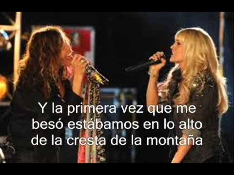 Aerosmith ft. Carrie Underwood -Can't Stop Loving You (Subtitula y traducida al español)