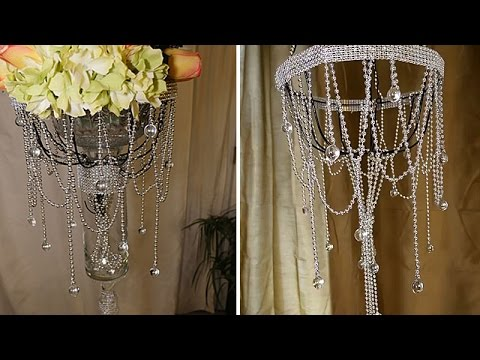 DIY | Dollar Tree Chandelier and Wedding Decorations - YouTube