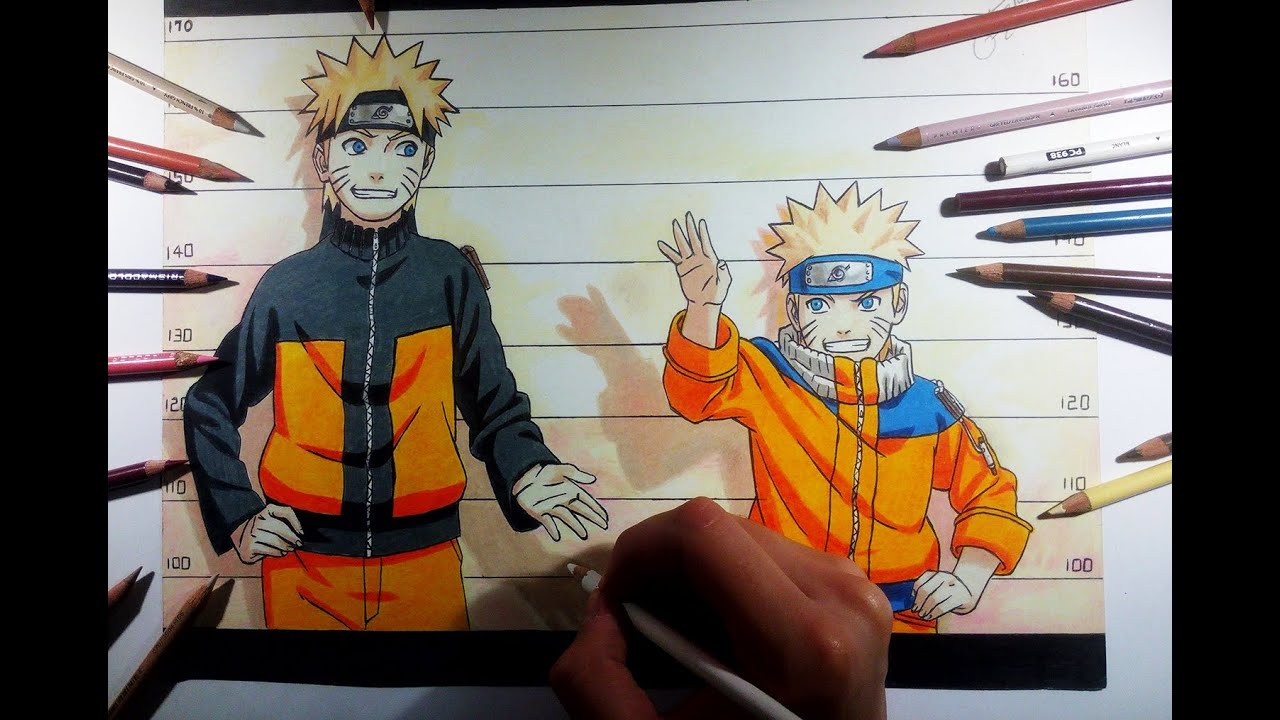 drawing dibujo naruto shippuden u0026 naruto color drawing youtube