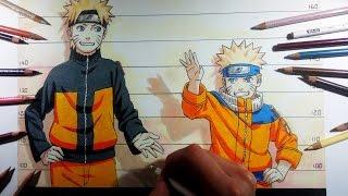 Drawing / Dibujo Naruto Shippuden & Naruto [Color Drawing]