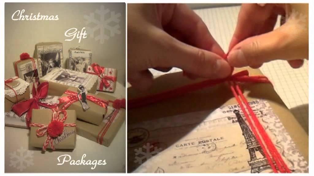 Pacchetti Di Natale In Stile Shabby Chic Youtube
