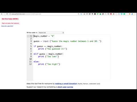 Live Coding Conditionals - Python MC